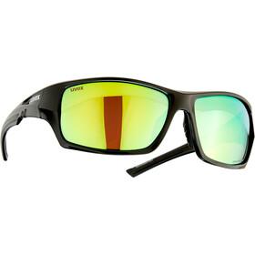 UVEX Sportstyle 222 Pola Briller, sort/grøn